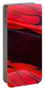 Red Flames Hot Rod Portable Battery Charger
