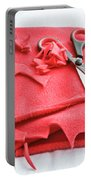 Red Fleece Portable Battery Charger