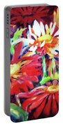Red Floral Mishmash Portable Battery Charger