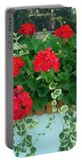 Red Geranium 1 Portable Battery Charger
