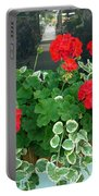 Red Geranium 2 Portable Battery Charger