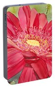 Red Gerbera Daisy Portable Battery Charger