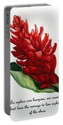 Red Ginger Poem Portable Battery Charger