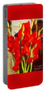 Red Glads Blooming Portable Battery Charger