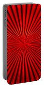Red Glass Abstract 1 Portable Battery Charger