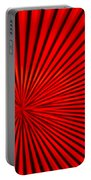 Red Glass Abstract 3 Portable Battery Charger
