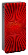 Red Glass Abstract 4 Portable Battery Charger