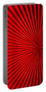 Red Glass Abstract 5 Portable Battery Charger