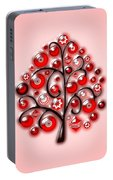 Red Glass Ornaments Portable Battery Charger