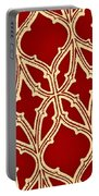 Gothic Pattern On Red Portable Battery Charger