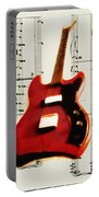 Red Guitar Portable Battery Charger by Bill Cannon