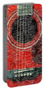 Red Guitar Center - Digital Painting - Music Portable Battery Charger