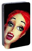 Red Head Around Corner Portable Battery Charger