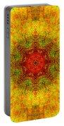 Red Heart Sun Rainbow Mandala Portable Battery Charger