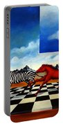 Red Horses With Zebra Portable Battery Charger