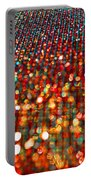 Red Hot Bokeh Bling Portable Battery Charger