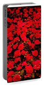 Red Impatiens Flowers Portable Battery Charger