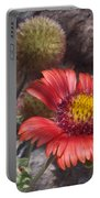 Red Indian Blanket Portable Battery Charger