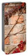 Red Ivy Leaves Creeper Portable Battery Charger