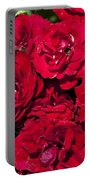 Red Lavaglut Lavaglow Floribunda Roses Portable Battery Charger