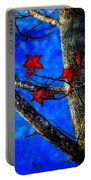 Red Leaves Blue Sky In Autumn Portable Battery Charger