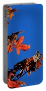 Red Leaves Blue Sky Portable Battery Charger