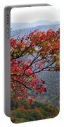 Red Leaves In The Blueridge Portable Battery Charger