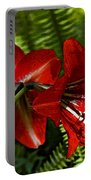 Red Lilies For Spring Portable Battery Charger