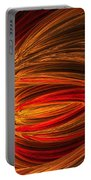 Red Luminescence-fractal Art Portable Battery Charger