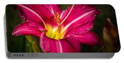 Red Magic Daylily Portable Battery Charger