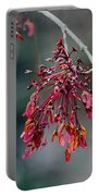 Red Maple Flowers Portable Battery Charger