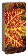 Red Maple Leaf Portable Battery Charger
