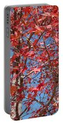 Red Maple Leaves  Portable Battery Charger