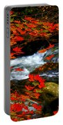 Red Maple Stream  Portable Battery Charger