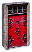 Red Medieval Door Portable Battery Charger