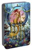Red Mermaid Portable Battery Charger