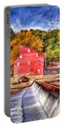 Red Mill Painted Portable Battery Charger