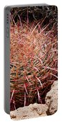 Red Mohave Barrel Cactus Portable Battery Charger