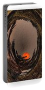 Red Moon Rising - Abstract - Triptych Portable Battery Charger