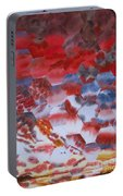 Red Morning With Two Ducks Portable Battery Charger