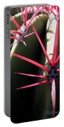 Red Needles On Barrel Cactus Portable Battery Charger