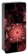 Red Neon Collage Portable Battery Charger