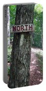 Red North Sign Portable Battery Charger