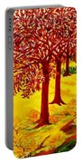 Red Oaks  Pop Art Portable Battery Charger