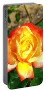 Red Orange And Yellow Rose Portable Battery Charger
