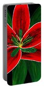 Red Oriental Lily Portable Battery Charger