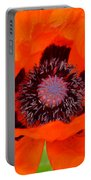 Red Oriental Poppy Portable Battery Charger