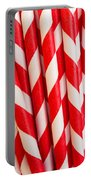 Red Paper Straws Portable Battery Charger