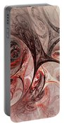 Red Passion - Abstract Art Portable Battery Charger