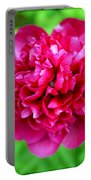 Red Peony Flower Portable Battery Charger